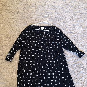 Tops - Chicos black and white dots, chicos size 3=xl
